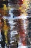 De vlekken van de olie op de ijzerflank royalty-vrije stock afbeelding