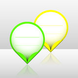 De vlekstickers van het neonkader vector illustratie
