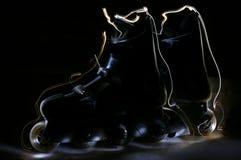 De vleten van de zomer in lantaarnlicht Stock Fotografie