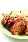 De vleugel en de trommelstok van de grillkip Stock Afbeelding