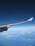 De Vleugel tijdens de vlucht IMG_8303 van het vliegtuig royalty-vrije stock afbeelding