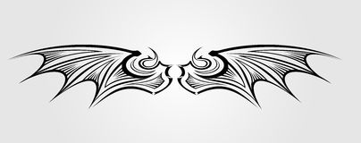 De Vleugel van de draak Royalty-vrije Stock Afbeelding