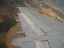 De vleugel van het vliegtuig Stock Fotografie