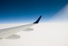 De Vleugel van het vliegtuig Stock Afbeelding