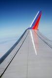 De vleugel van het vliegtuig Royalty-vrije Stock Foto