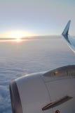 De vleugel van het vliegtuig stock afbeeldingen