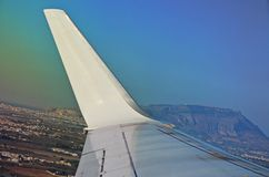 De vleugel van het vliegtuig Royalty-vrije Stock Afbeeldingen