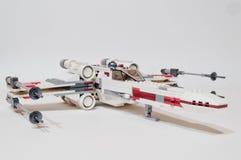 De x-Vleugel van de Legosterrenoorlog vechter royalty-vrije stock foto
