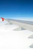 De vleugel van vliegtuigen Royalty-vrije Stock Foto