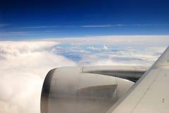 De Vleugel van vliegtuigen Royalty-vrije Stock Afbeeldingen