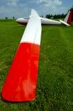 De Vleugel w/Paths van het zweefvliegtuig Stock Foto