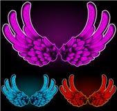 De vleugels kleurden versie drie Stock Foto
