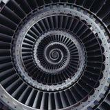 De vleugels spiraalvormige effect van turbinebladen abstracte fractal patroonrug Royalty-vrije Stock Foto's