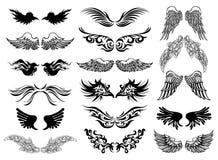 De vleugels tatoeëren vectorreeks Royalty-vrije Stock Afbeelding