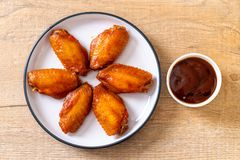 De vleugels van de barbecuekip stock fotografie