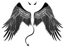 De vleugels van de duivel royalty-vrije illustratie