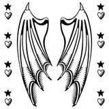 De vleugels van de duivel stock illustratie
