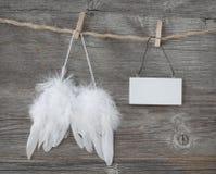 De vleugels van de engel stock fotografie