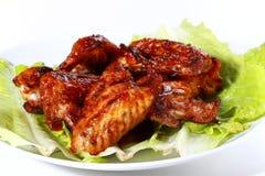 De vleugels van de kip Stock Foto