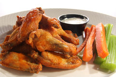 De vleugels van de kip Stock Foto's