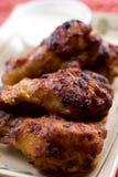 De vleugels van de kip Stock Fotografie