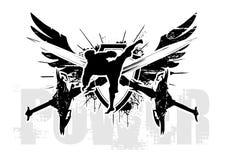 De vleugels van de macht royalty-vrije illustratie