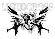 De vleugels van de motocross Stock Foto's