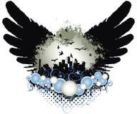 De Vleugels van de Stad van Grunge royalty-vrije illustratie