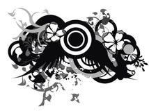 De vleugels van Grunge Stock Afbeeldingen