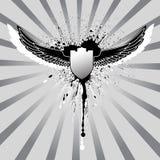 De vleugels van Grunge en schildillustratie Stock Fotografie