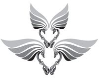 De vleugels van het hart stock afbeeldingen