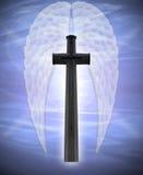 De vleugels van het kruis en van de engel vector illustratie