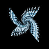 De vleugels van het metaal Stock Foto's