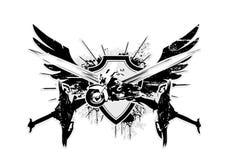 De vleugels van Motocycle Stock Foto's