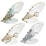 De Vleugels van Steampunkfaerie Stock Afbeelding
