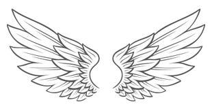 De Vleugels van de tatoegeringsstijl vector illustratie