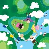 De vlieg groen Dr. van Childen Royalty-vrije Stock Afbeelding
