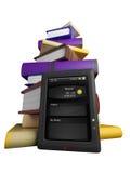 De vlieg van boeken in uw tablet Stock Foto's