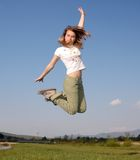 De vlieg van de vrouw stock foto