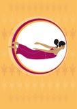 De vlieg van de yoga Stock Foto