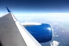 De vlieg van het vliegtuig Stock Afbeelding