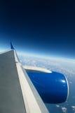 De vlieg van het vliegtuig Royalty-vrije Stock Afbeeldingen