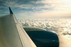 De vlieg van het vliegtuig Stock Fotografie