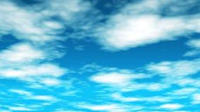 De Vlieg van uitzendingswolken door 01 royalty-vrije illustratie