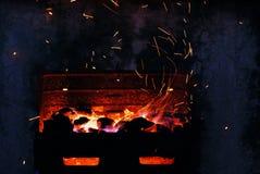 De vliegen van de brand royalty-vrije stock afbeelding