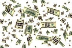 De vliegende achtergrond van het geld Royalty-vrije Stock Afbeeldingen