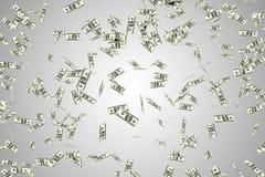 De vliegende Amerikaanse dollars - het 3d teruggeven Royalty-vrije Stock Fotografie