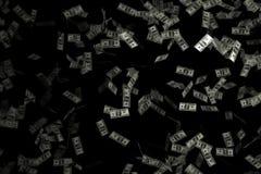 De vliegende Amerikaanse dollars - het 3d teruggeven Royalty-vrije Stock Foto
