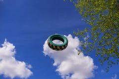 De vliegende autoband Royalty-vrije Stock Afbeeldingen