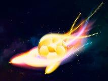 De vliegende bal van het Voetbal vector illustratie